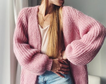 Loose Knit Sweater, Mohair Sweater, Cozy Sweater, Chunky Knit Sweater, Beige Sweater, Bohemian Sweater, Wedding Sweater, Bridal Sweater