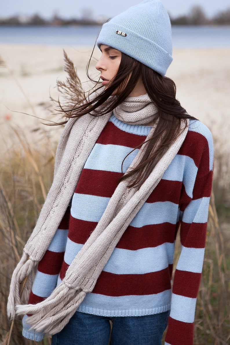 Cozy Sweater with Extra Long Sleeves Angora Sweater image 0