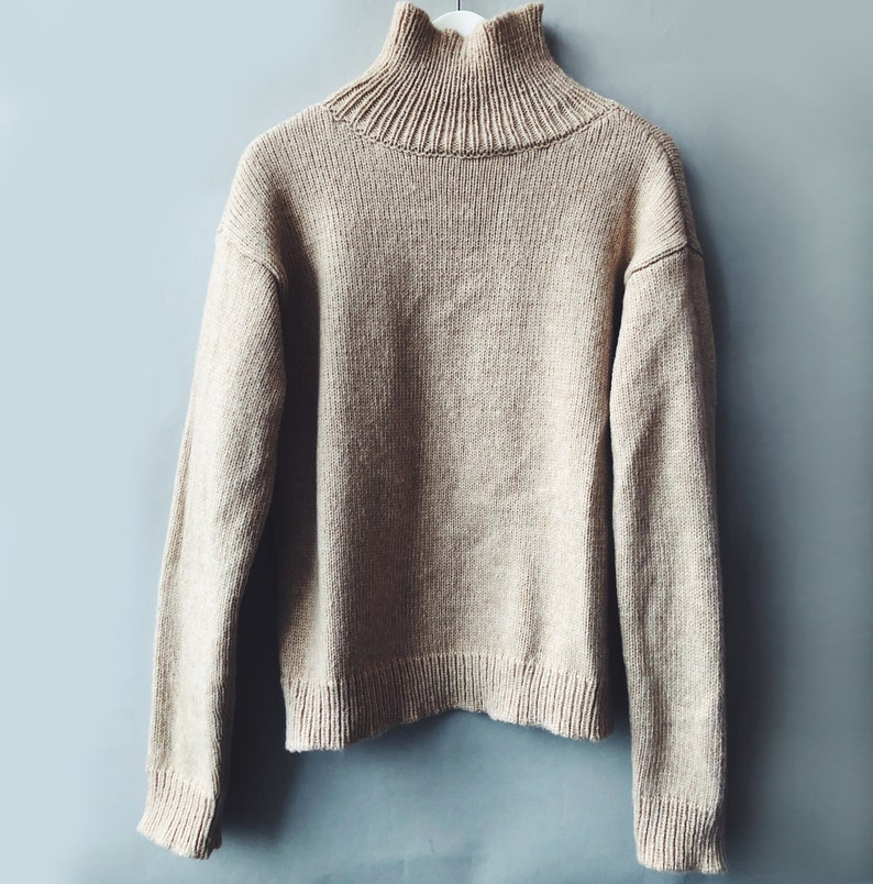 READY TO SHIP Beige Alpaca Sweater Women Oversized Sweater image 0