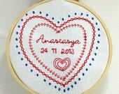 Newborn embroidered decor...