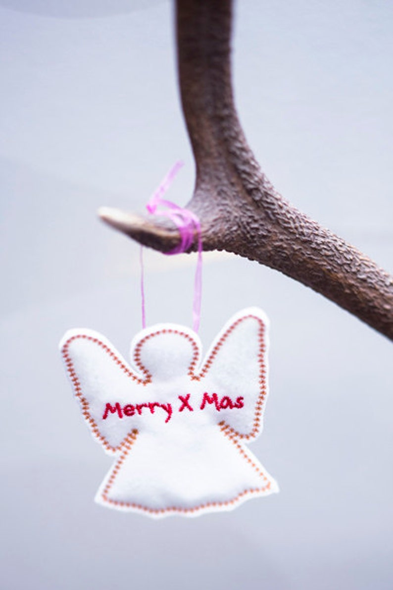 Christmas decoration with personalized text 10 pcs image 0