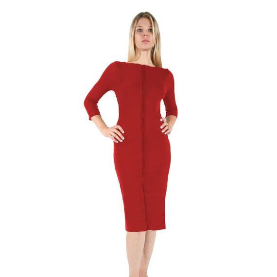 Rot argentinischen Tango-Kleid mit Ärmeln. Elegante ...