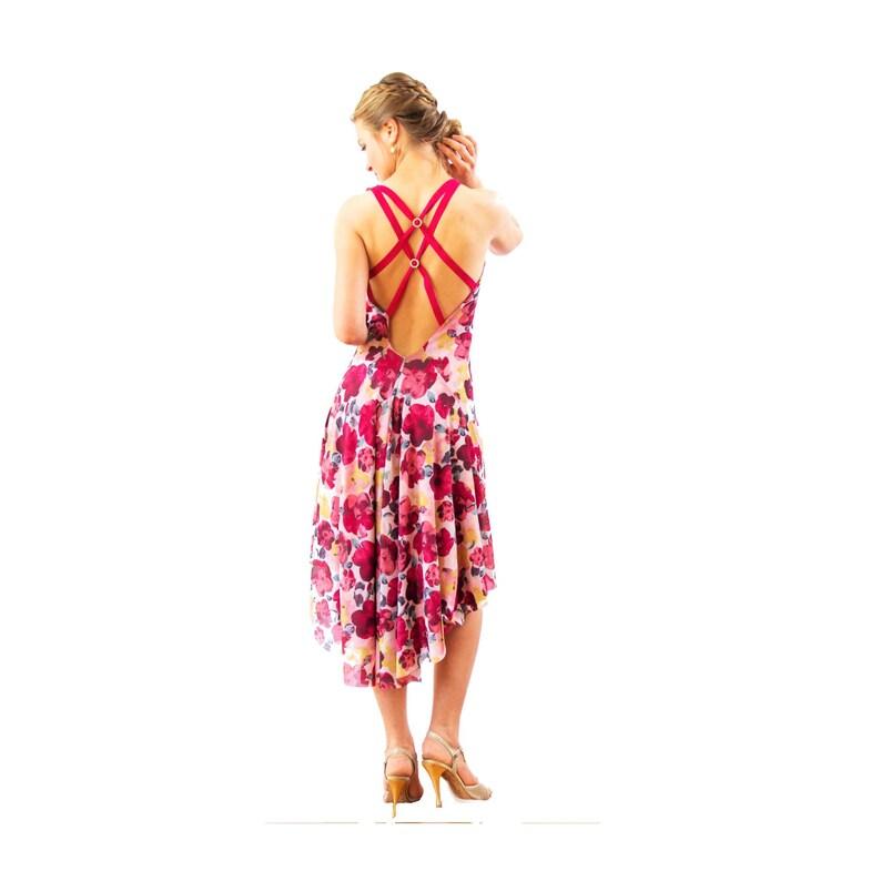 9b6025801e63 Rosa Tea tango argentino Abito con schiena aperta. Strappy