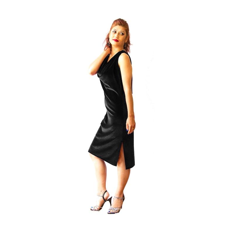 Abito di velluto nero tango argentino con spacchi laterali.  9eee12871cd