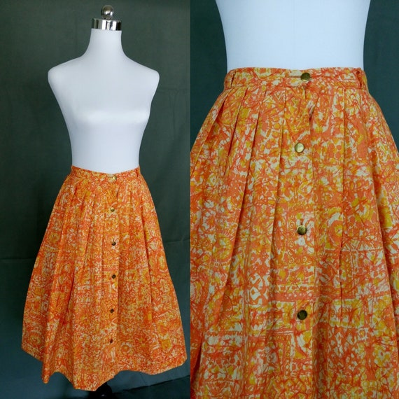 1950s Catalina Sportswear circle cotton skirt/rock