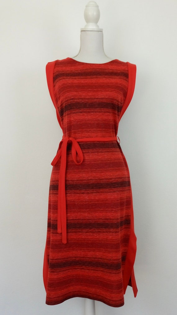 Vintage 60s/70s knit Pinafore dress - image 2