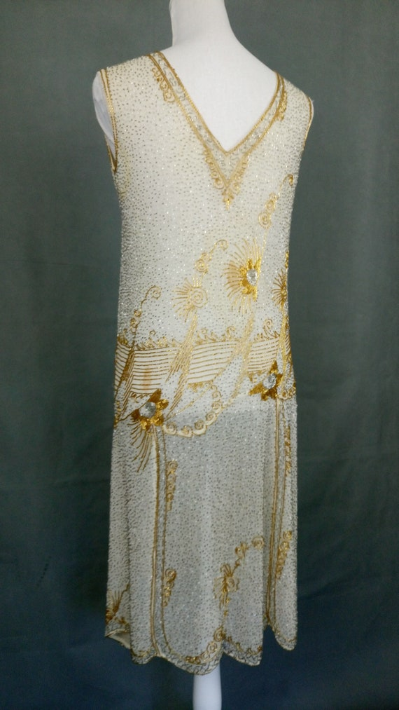 1920s Flapper Beaded Dress Made in France - image 7