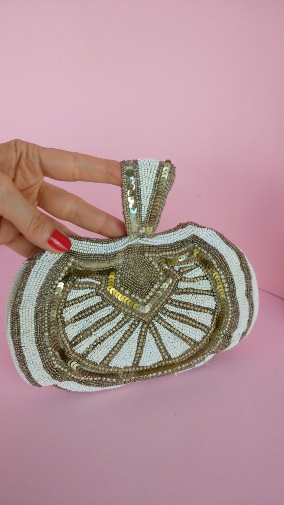 1930s Beaded Evening Bag/art Deco beaded purse/AS
