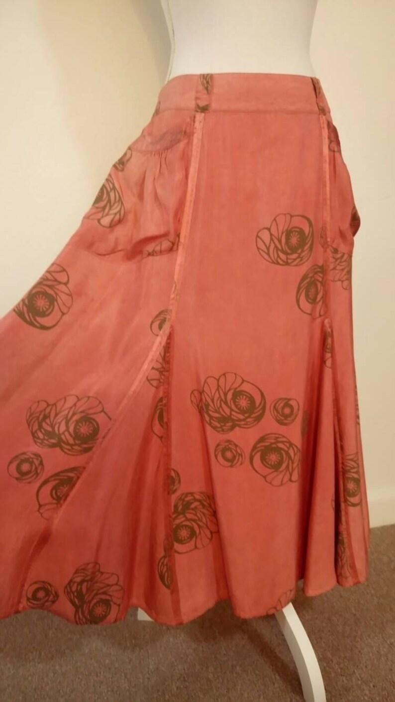 00b098f3c Vintage Von Troska designer maxi gipsy boho skirt pockets | Etsy