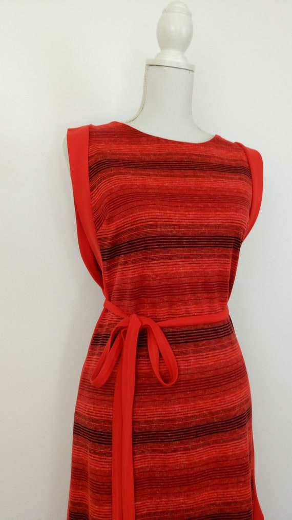 Vintage 60s/70s knit Pinafore dress - image 3