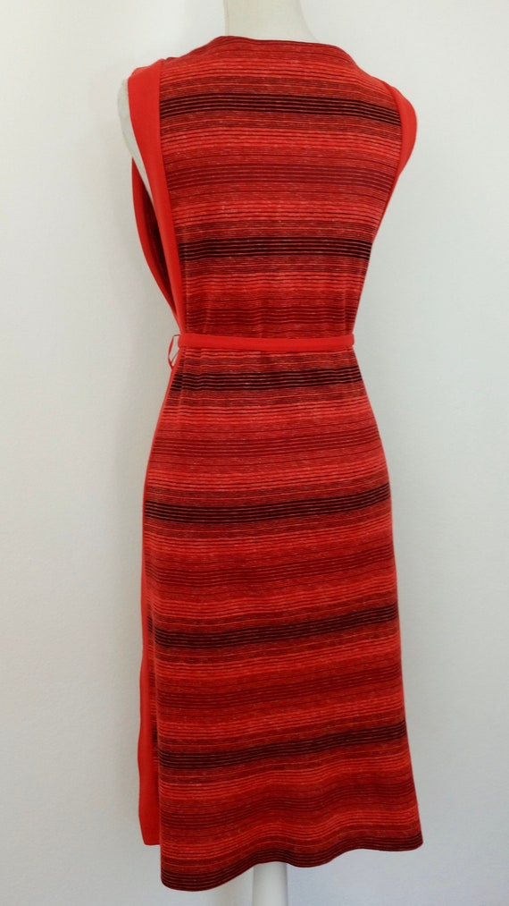 Vintage 60s/70s knit Pinafore dress - image 7