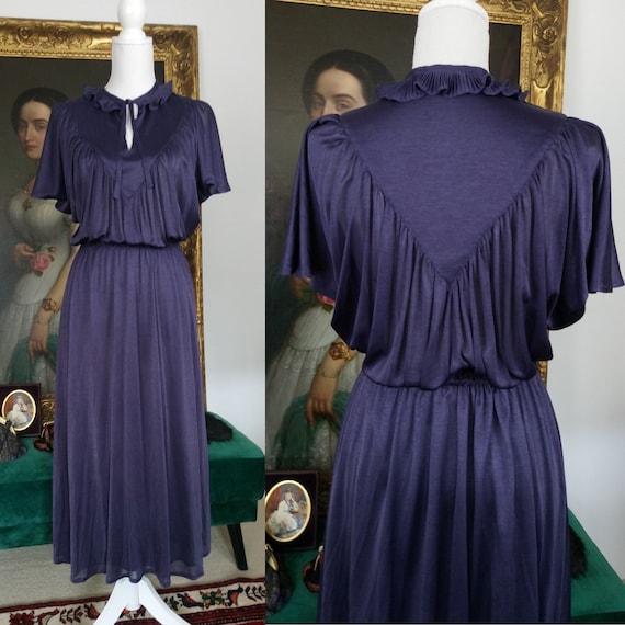 Vintage 70s Eggplant purple dress by Radley of Lon