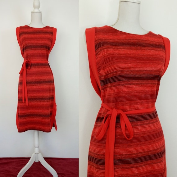 Vintage 60s/70s knit Pinafore dress