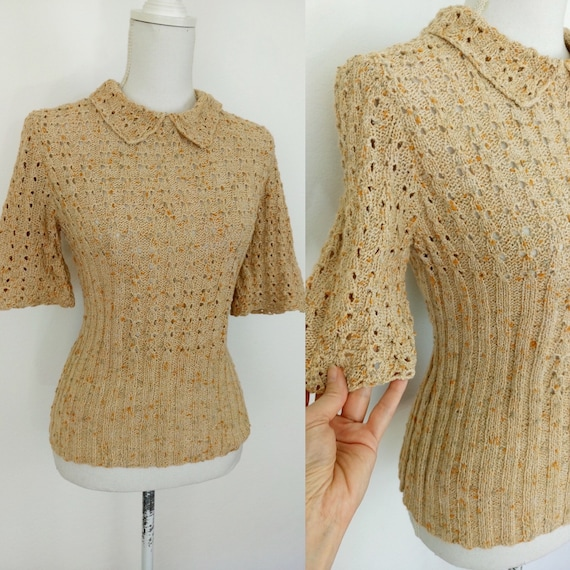 Vintage 40s style knit top