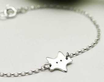 Sterling Silver Fox Bracelet - Fox Gifts - Animal Jewellery