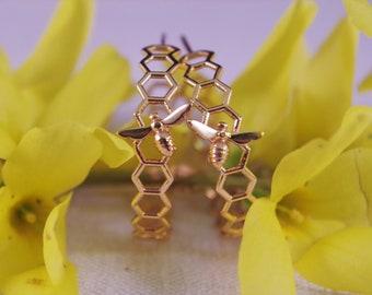 Honey hoops, 18K gold filled