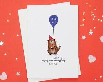 Personalised Groundhog Birthday Card