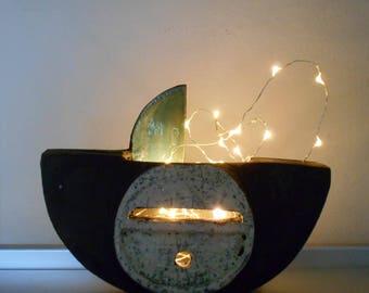 Raku lampa, energy lamps, yoga studio lamps, meditation lamps, mood lamp