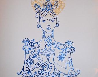 Art Print, Wall Art, Selene Goddess