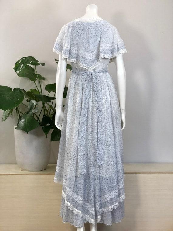 vintage Gunne Sax tiny floral print lace & ribbon… - image 6