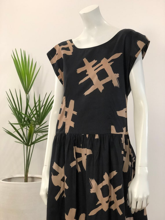 vintage black & khaki hashtag graphic print lightw