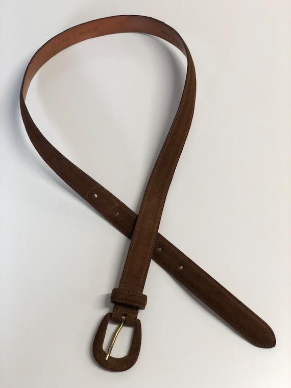 vintage Ralph Lauren brown suede belt 80s