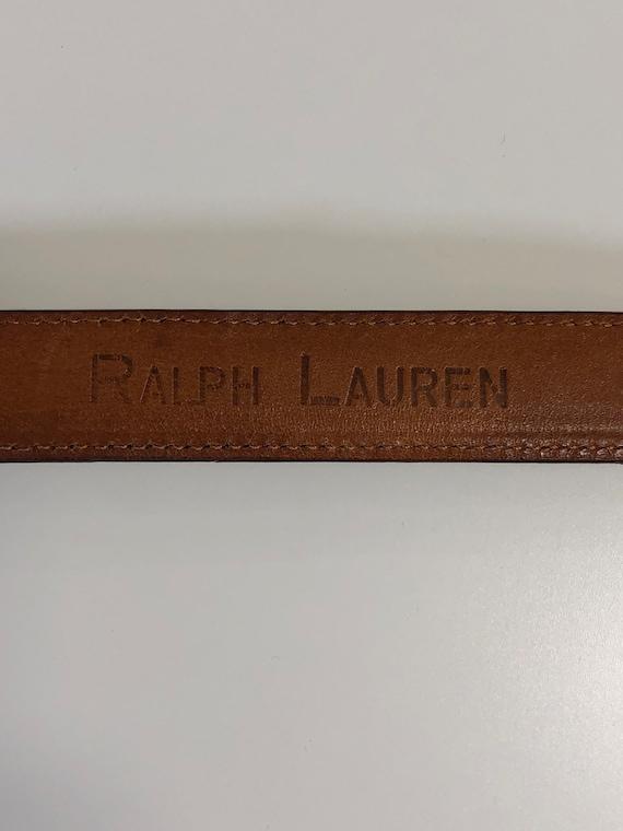 vintage Ralph Lauren brown suede belt 80s - image 4