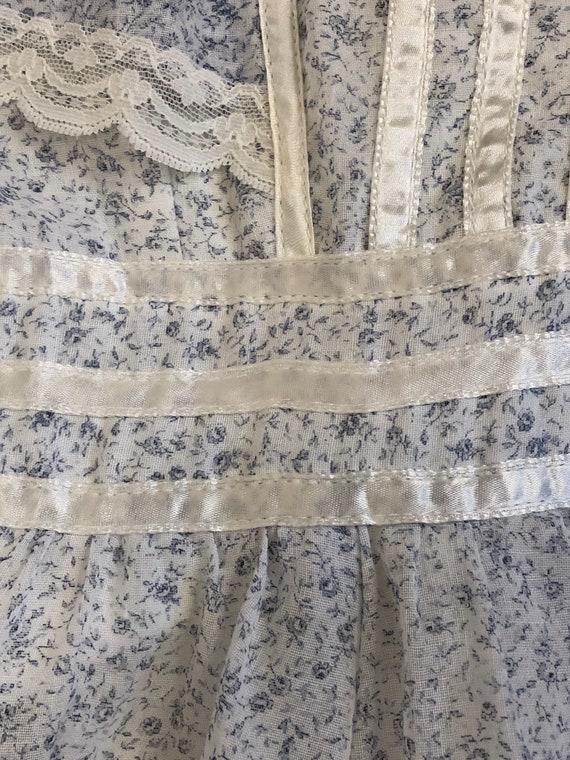 vintage Gunne Sax tiny floral print lace & ribbon… - image 5