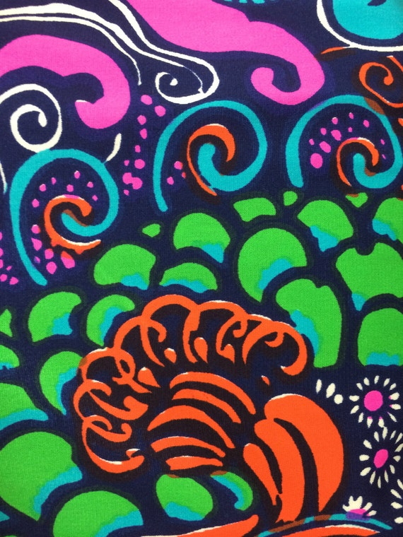 vintage bold psychedelic print maxi dress 60s - image 4