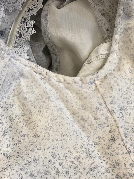 vintage Gunne Sax tiny floral print lace & ribbon… - image 9