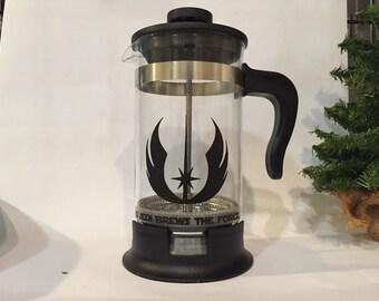 Star Wars inspired Jedi, 34 oz French Press coffee maker Bodum, a Jedi brews the force always