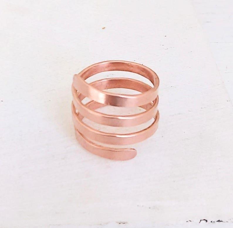 Kupfer Gold Spirale