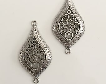 Chandelier Component Antique silver Color,  Earring components Necklace Pendant Chandelier Components Jewelry Connector Findings