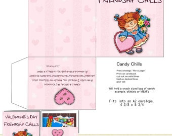 PRINT YOUR OWN Valentine's Day Friendship Candy Chills