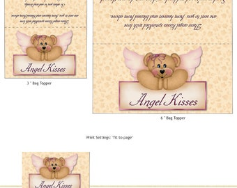 PRINT YOUR OWN Angel Kisses Bag Toppers