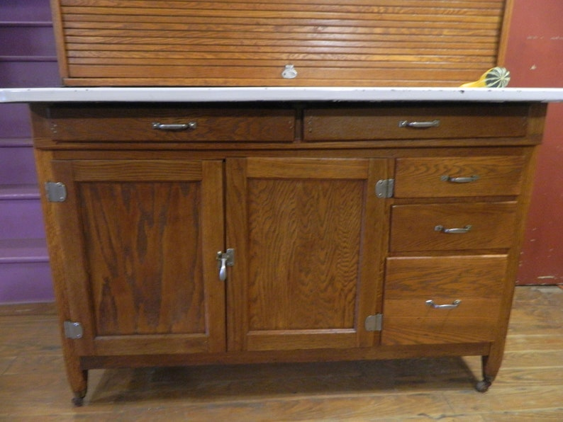 1929 Napanee Hoosier Cabinet 48 Inches Wide With Flour Sifter Etsy