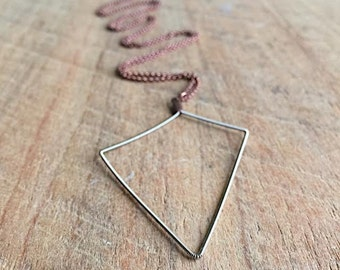 Recycled Electric Guitar String Necklace - Geometric - Music Lover - Recycle