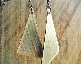 Recycled Drum Cymbal Triangle Earrings - RECYCLED - Drummer - Cymbals - Music Lover - Gift for Musician - Rock and Roll