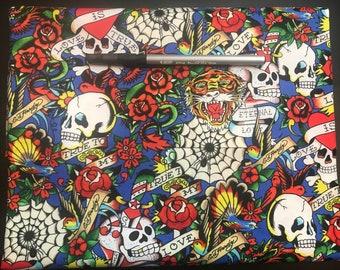 Ed Hardy Fabric Pencil Case, Coin Purse, Wristlet, or Cosmetic Bag  349 59e7be8dcd