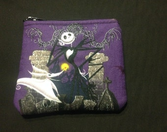 Nightmare Before Christmas Jack Skellington and Zero Coin Purse #123