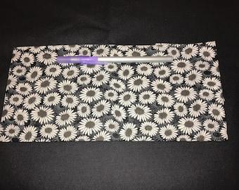 Daisies Pencil Case, Coin Purse, Wristlet, Cosmetic Bag #315
