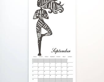 2018 Wandkalender, 11 x 14, Wandkalender, Yoga Fitness Übung Motivation inspirierend Zitat (cal0024)