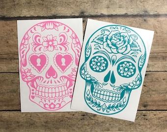 sugar skull decal / sugar skull / day of the dead / skull / skeleton / day / dead /