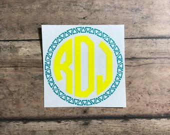 monogram decal / monogram / decal / triangle / eclectic / fun / southern / south