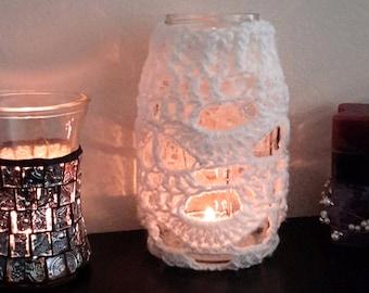 Mason jar cover pattern, crochet jar pattern, mason cozy pattern, crochet mason cover, crochet home decor pattern, mason jar sleeve