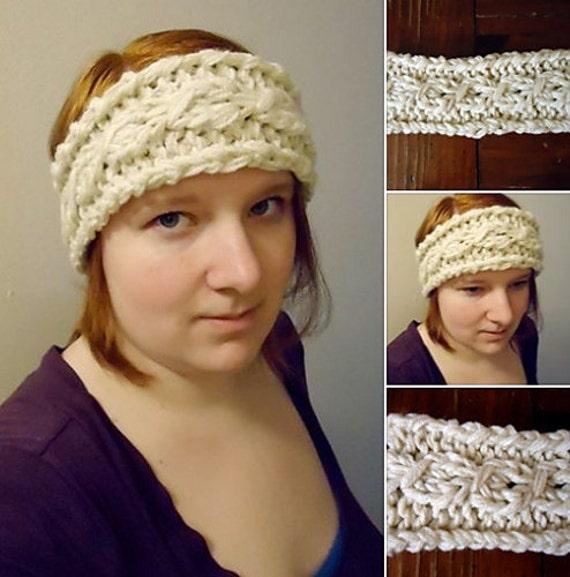 Knitted Cable Headband Knit Headband Knit Pattern Headband