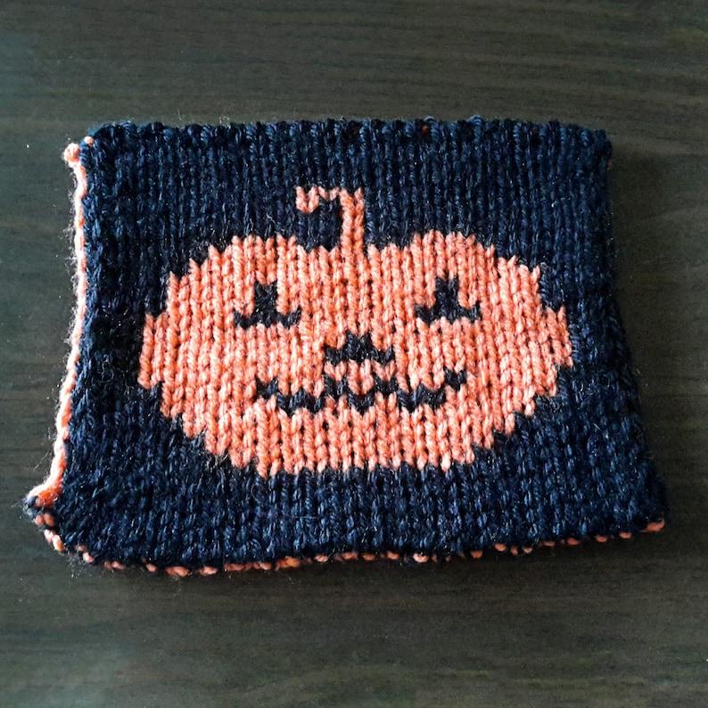 Knit Pumpkin dishcloth pattern hotpad pattern double knit image 0