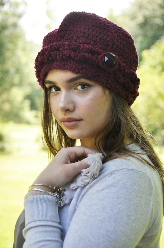 Crochet Hat pattern textured hat crochet vintage hat  2889e168f1e