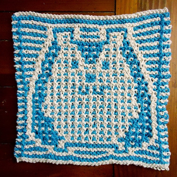 Knit Dishcloth Pattern Knit Hotpad Washcloth Pattern Etsy