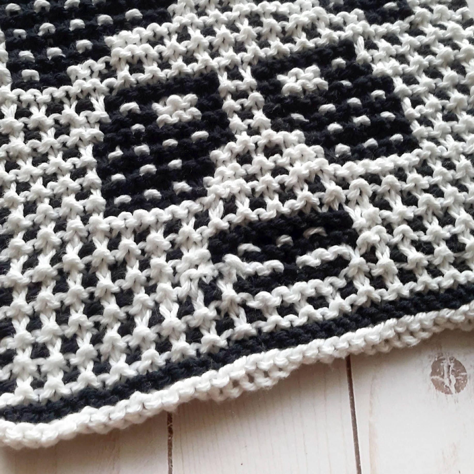 Knit panda dishcloth pattern, panda bear, unique gift knitting, knit ...